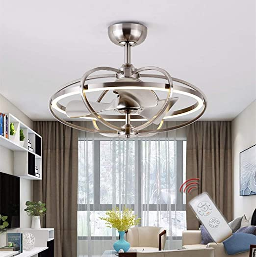 Ceiling Fans Led Fan Ceiling Fans With Lamp With Lighting Ceiling Fan Dimmable With Remote Control Wind Speed Adjustable Ceiling Brown Tools Home Improvement Swastikaadvertising Com