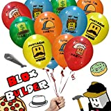 20 Blox Builder Balloons Birthday Game Truck Party Favor Roblox YouTube Fan To