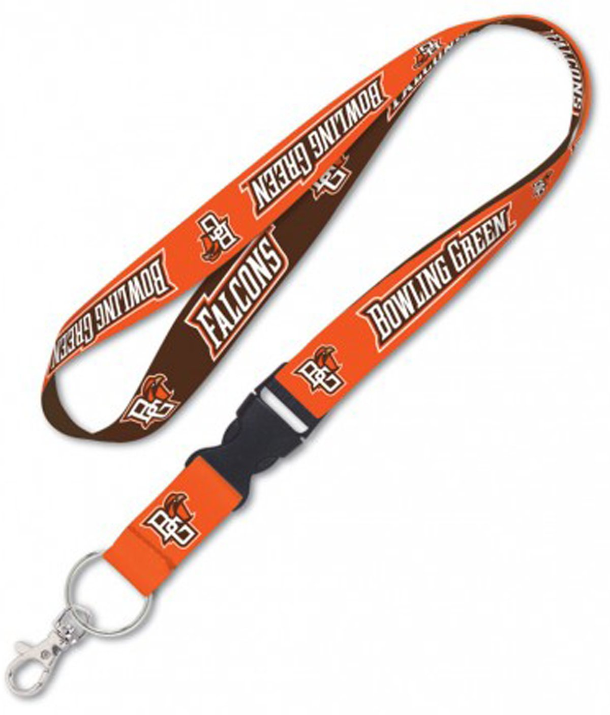 WinCraft Bundle 2 Items: Bowling Green State Falcons 1 Lanyard and 1 Premium Badge Reel Id Holder by WinCraft (Image #2)