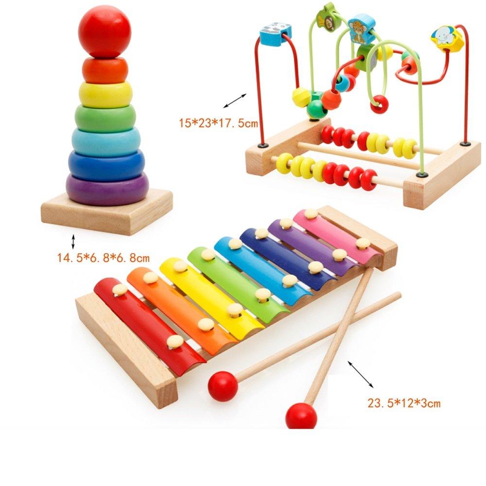 Wooden Activity Center Bead Maze - Frühkindliche Baby-Spielzeug - Kinder Holzspielzeug (Farbe : F)