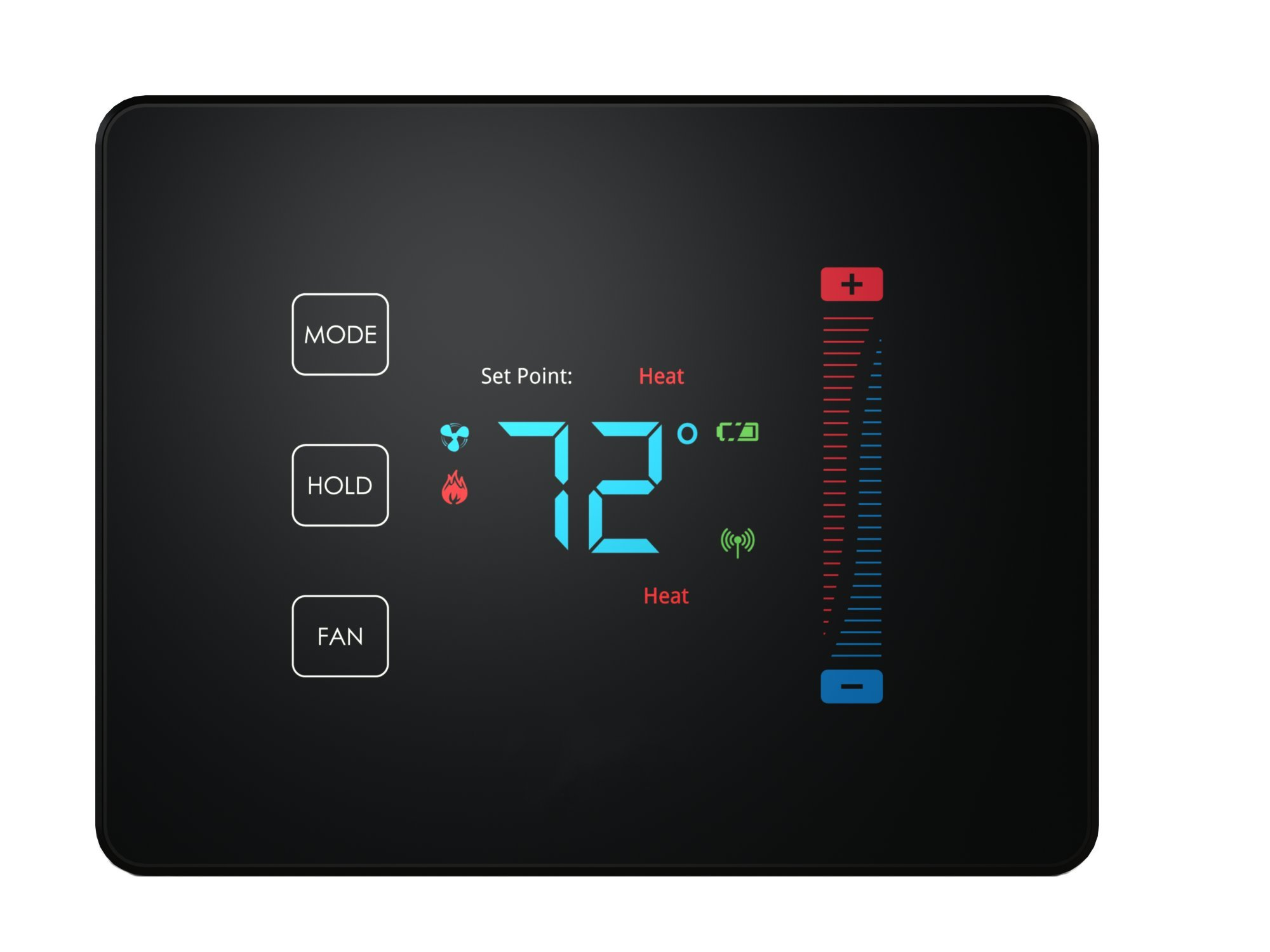 Centralite Pearl Thermostat (Works with SmartThings, Spectrum, Cox, Time Warner Cable, Vera, and ZigBee Platforms), Black