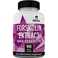 EBYSU Forskolin Extract - 500mg Max Strength - 90 Capsules Weight Loss & Appetite Suppressant Supplement - Diet Pills & Belly Buster Supplement - Metabolism Booster, Carb Blocker & Fat Burner for Women and Men - Beauty Health Cleanse