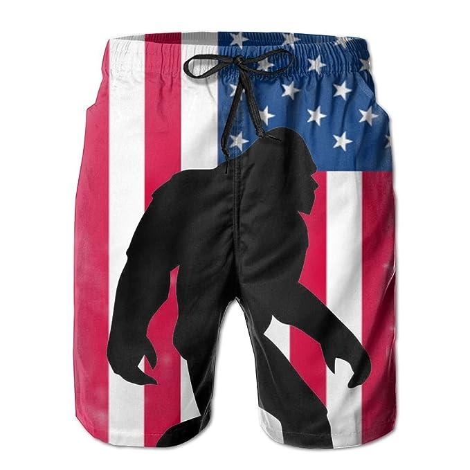 Amazon.com: XINT bandera americana Bigfoot para hombre ...