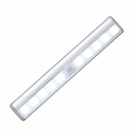 Stoog Luz LED Armario Pilas Alimentadas Lámpara Armario Sensor Movimiento 10 LED Lámpara de Noche Automático