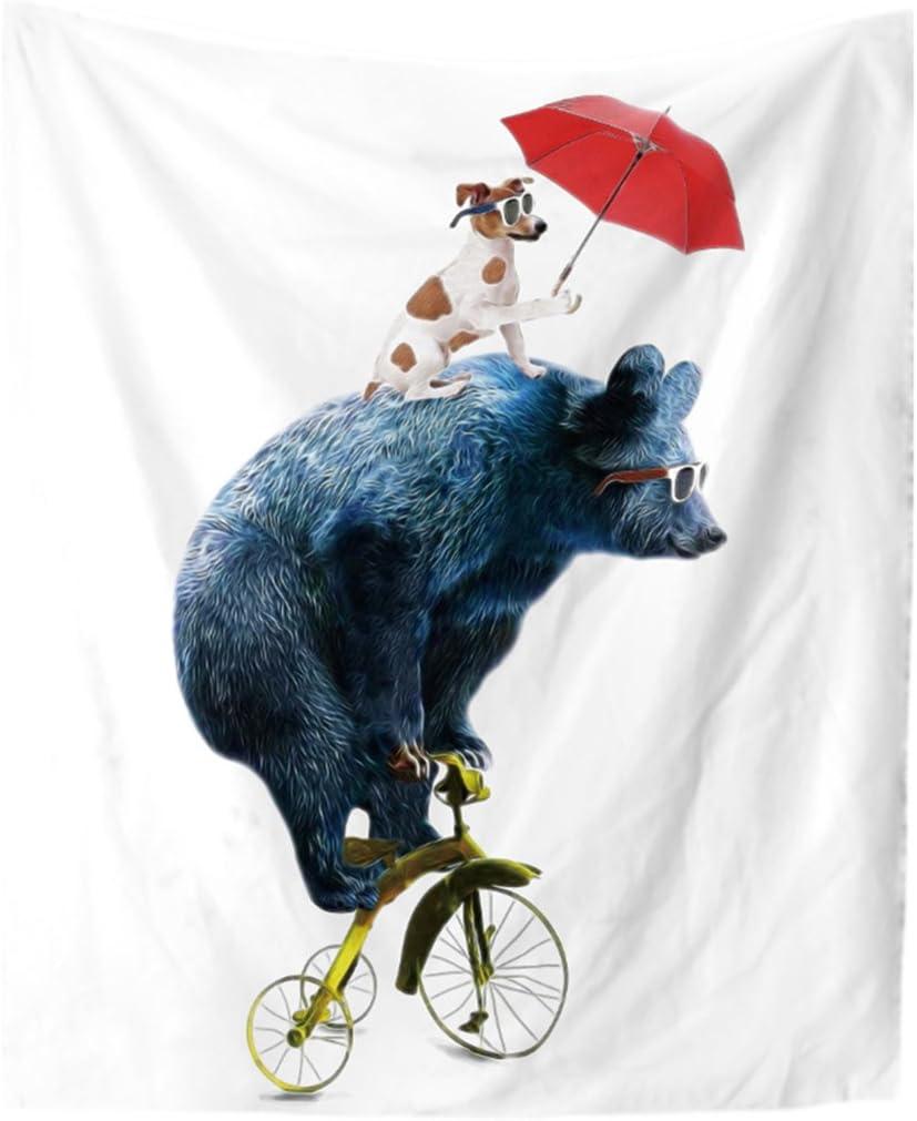 Diseño de Oso Riding bicicleta perro en alfombra cabeza pared ...