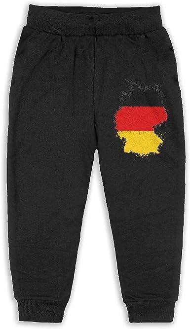 JOAPNWJ Germany Flag Children Cartoon Cotton Sweatpants Sport Jogger Elastic Pants Black