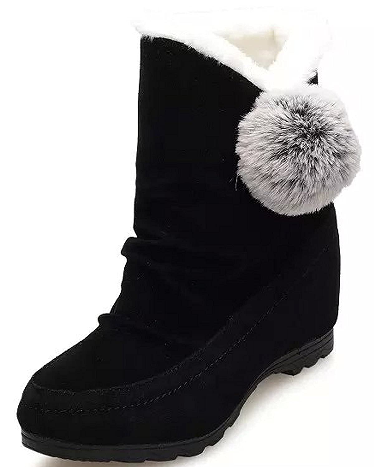 New Womens SOLE Black Fionn Suede Boots Mid-Calf Pull On