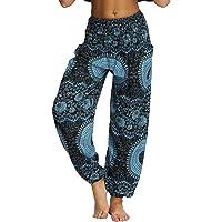 Nuofengkudu Damers hippie baggy byxor harem yogabyxor med fickor