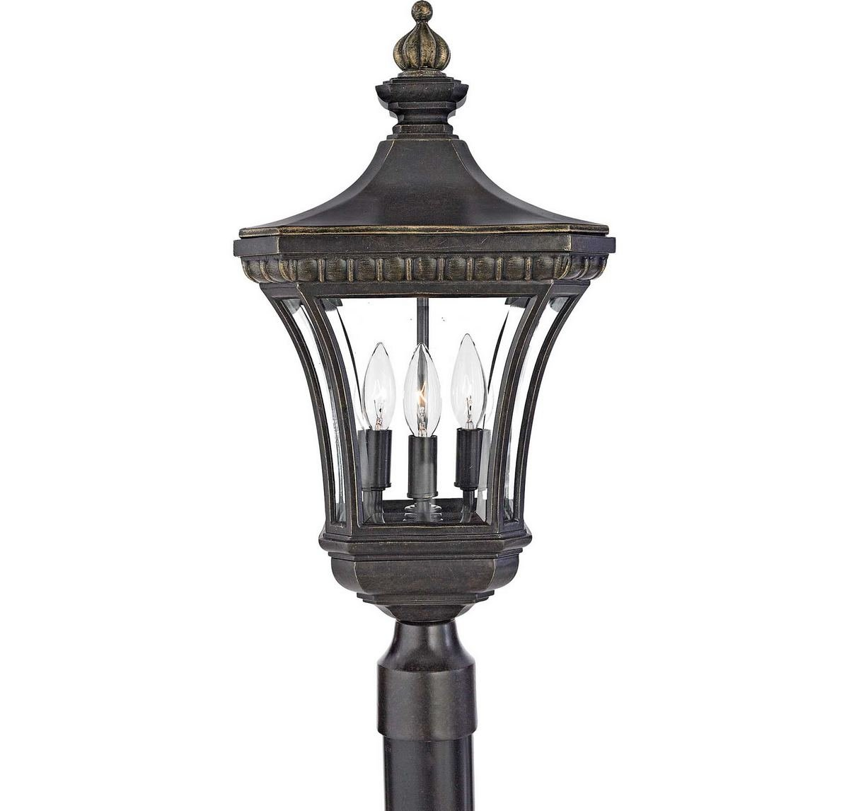 Quoizel DE9256IB Devon 23-Inch x 11-Inch 3 Light Outdoor Post Lantern, Imperial Bronze by Quoizel