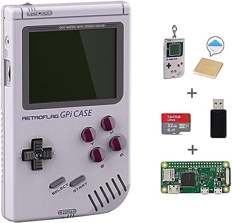 Retroflag Gpi Case Pour Raspberry Pi Zero Et Zero W Avec Raspberry Pi Zero W 32 Go Carte Micro Sd Dissipateur Avec Arrêt De Sécurisé Amazon Fr Informatique