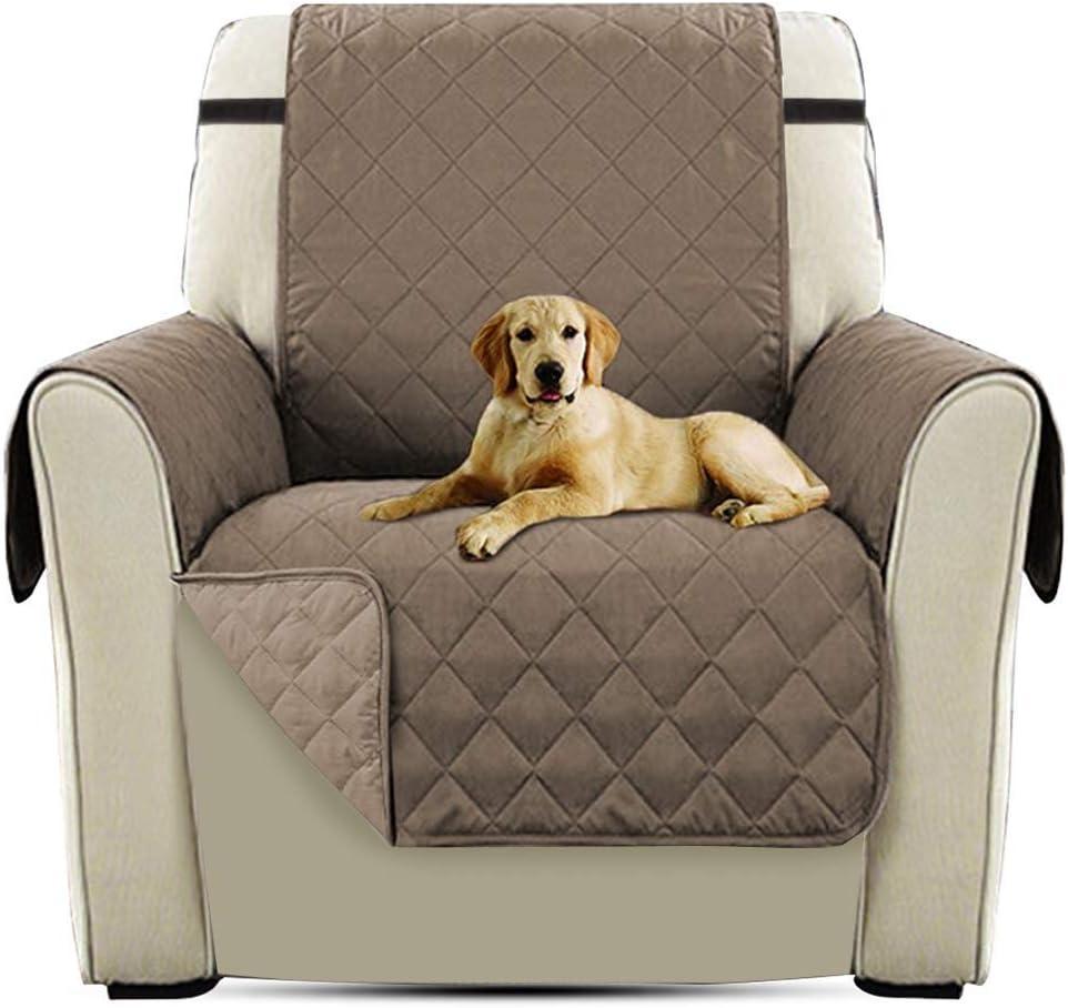 PETCUTE Cubre para Silla Fundas de Sofa Protector de sofá o sillón, Dos o Tres plazas Marrón Claro Silla