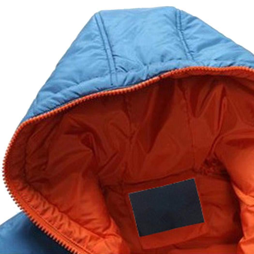 cokil Men Winter Warm Hooded Long Sleeve Zip Pocket Coat Jacket Outwear Down