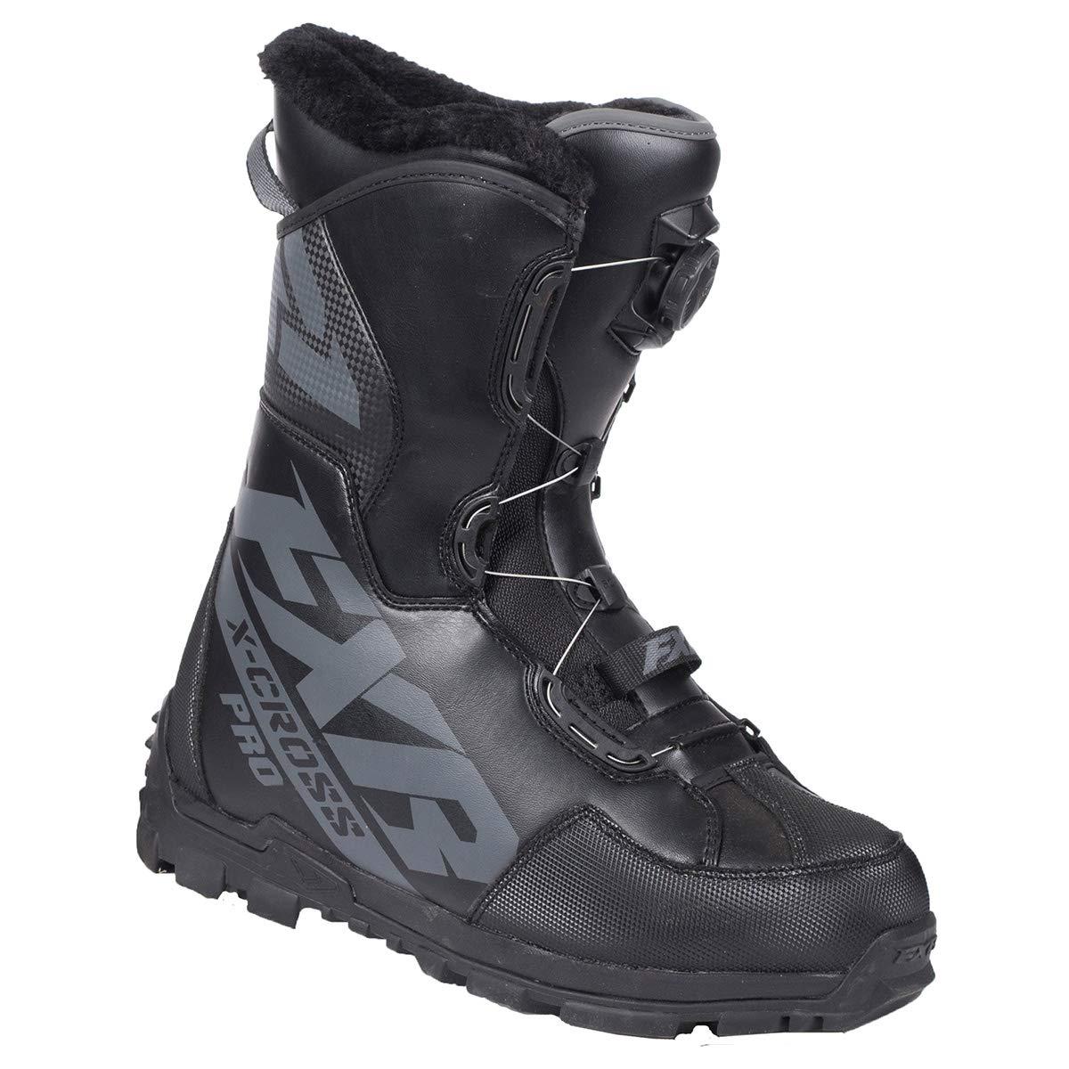 FXR X-Cross Pro BOA Boot Black//Fuchsia, Womens 8 // EU38