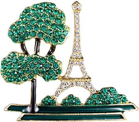 The Eiffel Tower The brooch is a tower made of beads The tower is handmade.