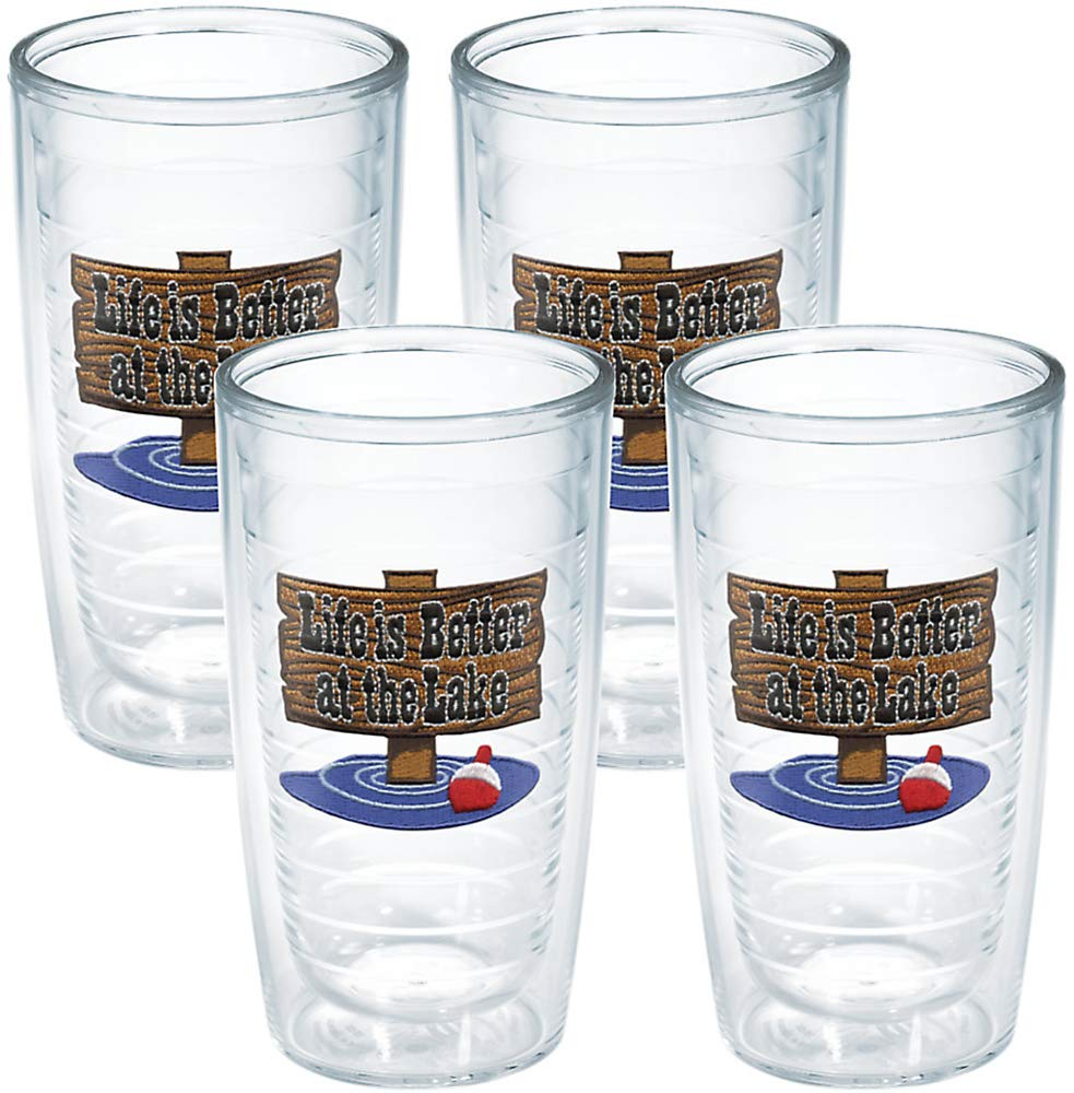 Tervis Life Better at The Lake Tumbler (Set of 4), 16 oz., Clear - 1040877