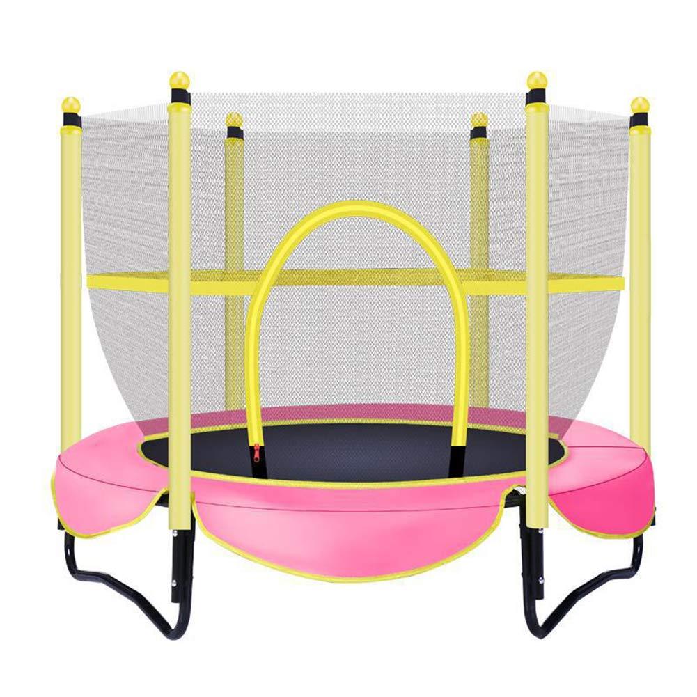 大型 トランポリン トランポリン セーフティーネット付き 安心安全 ご自宅のお庭で遊園地気分 子供から大人まで楽し直径150cm  Pink B07SJ656YW