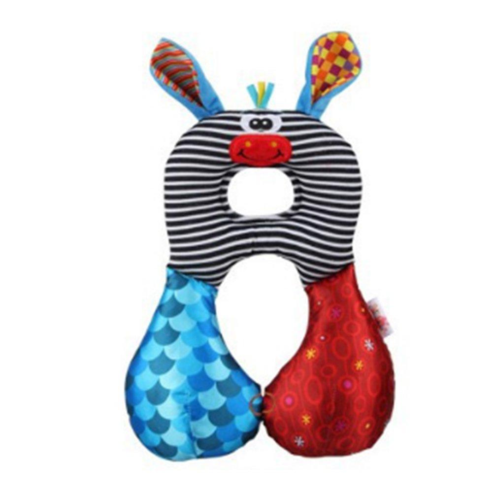 Isuper Cojines, Almohada para bebés Almohadilla Reposacabezas Diseño animado para Viaje apoyo de cabeza y cuello para Niños(Asno)