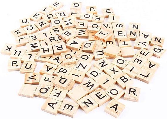Myriad Choices - 100 Piezas de Bricolaje de Madera, Letras y Clavos estándar, Compatible con Scrabble: Amazon.es: Hogar