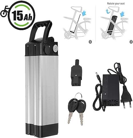 Vinteky Ebike Battery 24V 15AH E-Bike Pedelec Baterías de Iones de Litio con Soporte y Cargador: Amazon.es: Deportes y aire libre