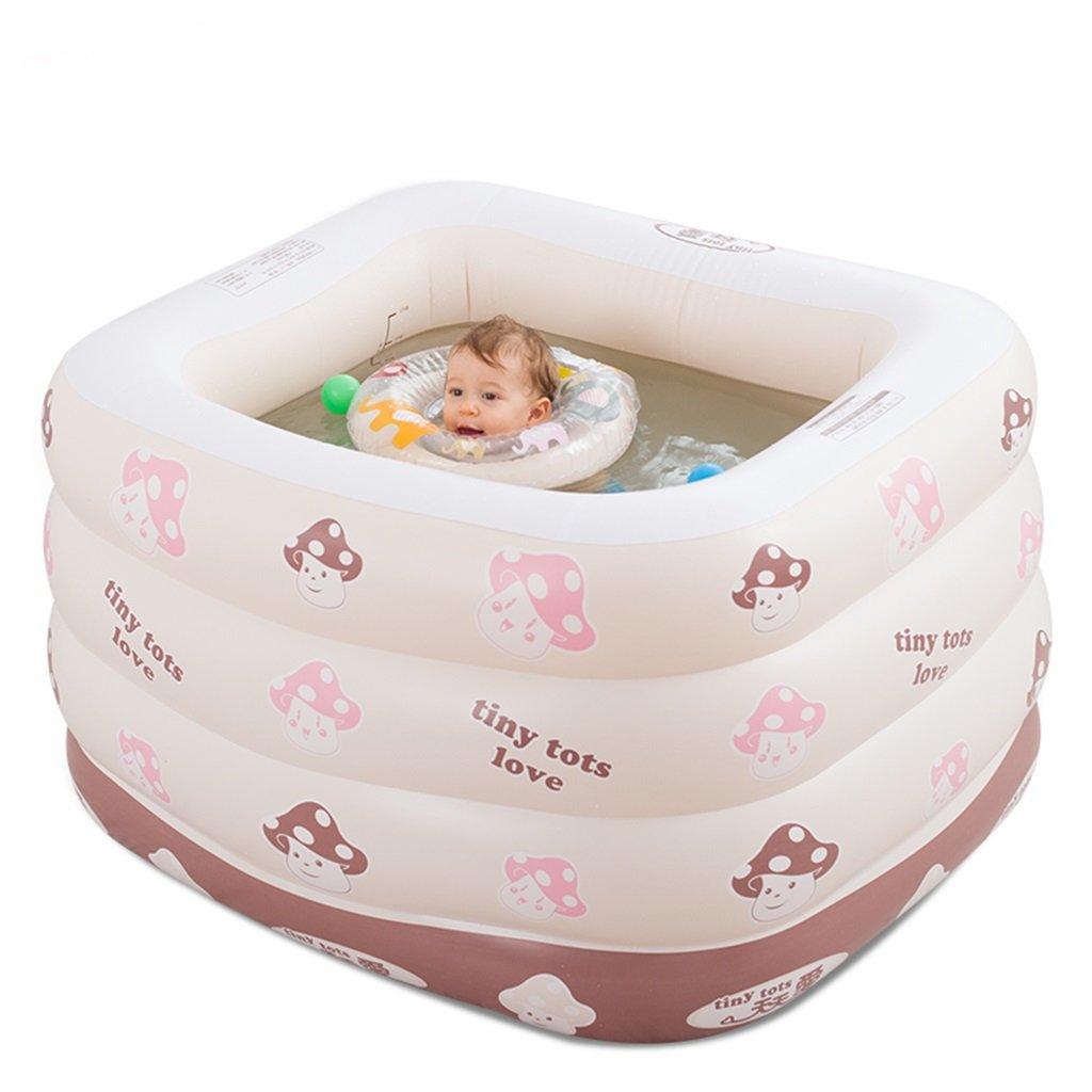 Children Swimming Pool Inflatable Folding Bathtub, Portable Tub Bath Thicker Insulation Home SPA Foldable Travel Air Shower Basin Seat Baths (Edition : MANUALLY)