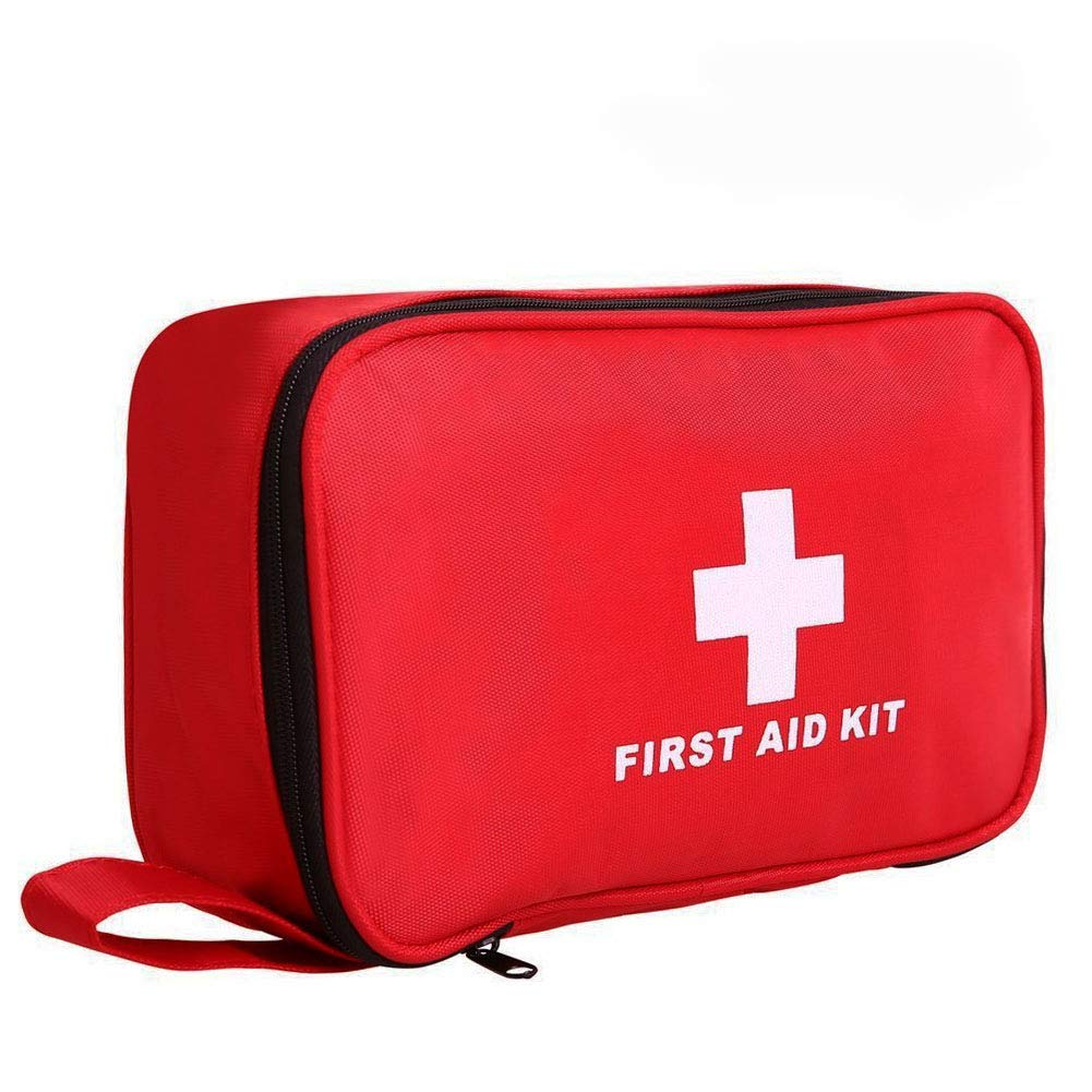 First Aid Kit 180 piece Portable Small Medical Box Complete Emergency Bag Outdoor Medical Car Camping Travel Office Sports and Home