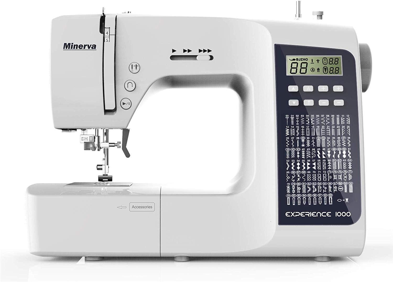 Máquina de coser Best Domestic Portable Euro Pro - Máquina de coser computadora blanca barata | Minerva Experience ...