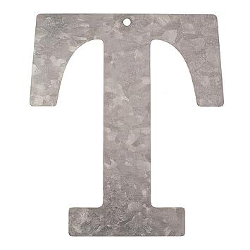 NEU Metall-Buchstabe verzinkt, 12x0,1cm, T: Amazon.de: Küche & Haushalt