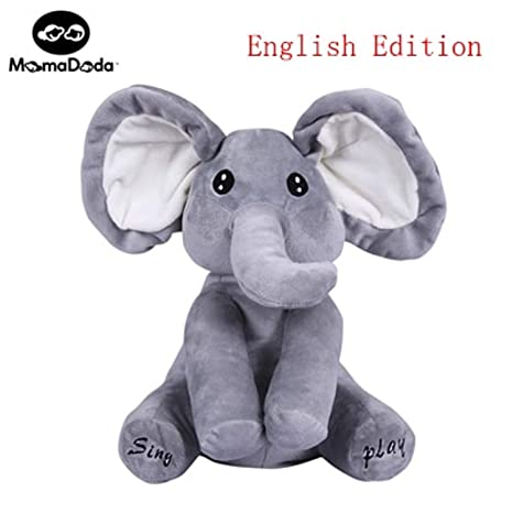 JEWH Wholesale Elephant Plush Toy Sing and Play Elephant Plush Stuffed Toys Interactive Funny Baby Doll