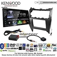 Volunteer Audio Kenwood Excelon DDX6904S Double Din Radio Install Kit with Satellite Bluetooth & HD Radio Fits 2012-2013 Toyota Camry with Amplified System