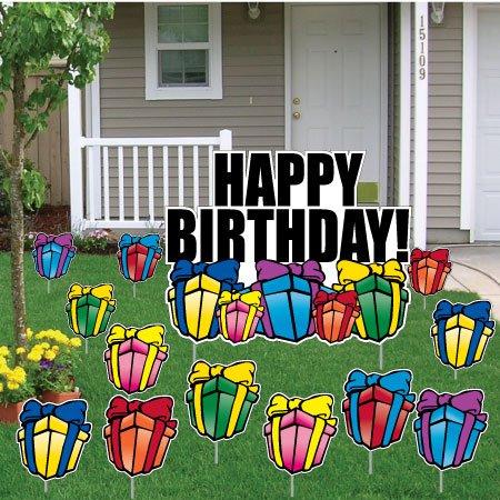 Amazoncom happy birthday letters yard card 26 stakes for Happy birthday yard letters