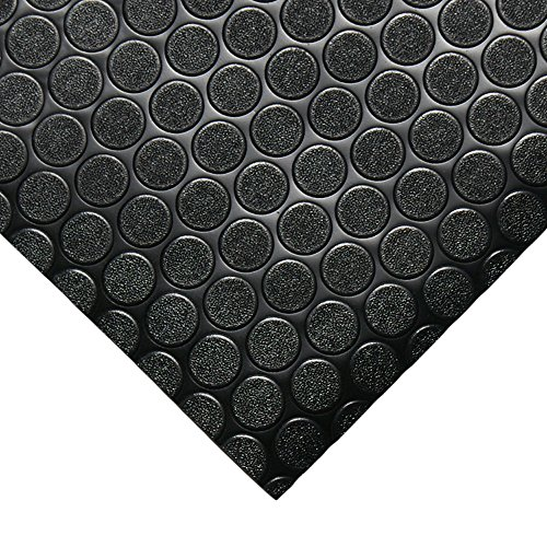 Rubber Cal Coin-Grip Flooring and Rolling Mat, Dark Grey, 2mm x 4 x 8-Feet by Rubber-Cal (Image #2)