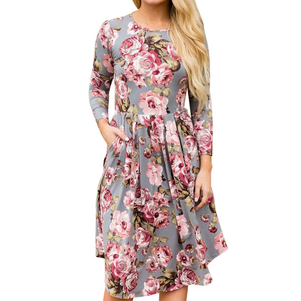 Venfamo Dresses SHIRT レディース B07K8SQF1C グレー US Size M = Tag XL