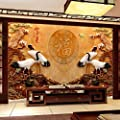 XLi-You Tv Background Wall Paper Living Room Modern Minimalist 3D Walls Chinese Large Three-Dimensional Paintings