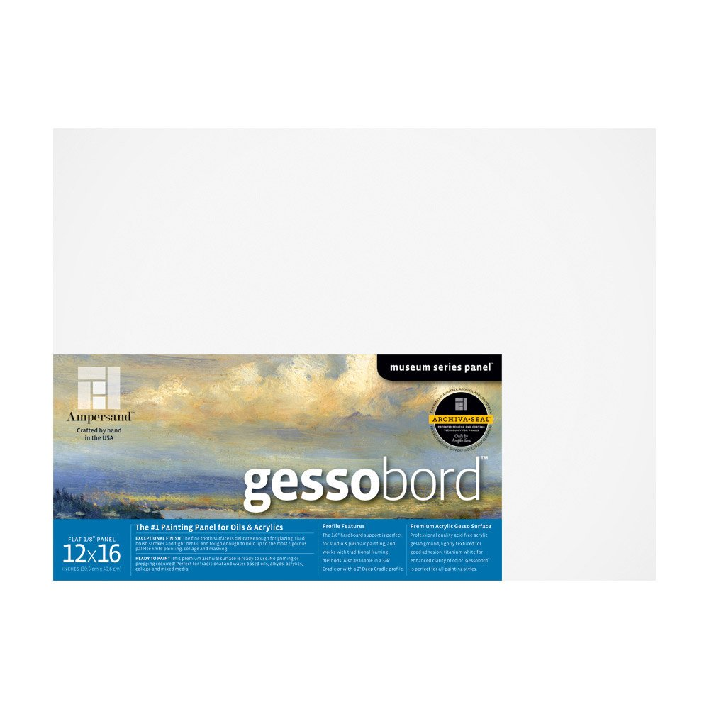 Ampersand Gessobord 12 in. x 16 in. 1/8 in. each