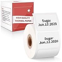 "Multi-Purpose Square Self-Adhesive Label for Phomemo M110/M200 Label Printer,1.18"" x 0.79"" (30x20mm), 320 Labels/Roll…"