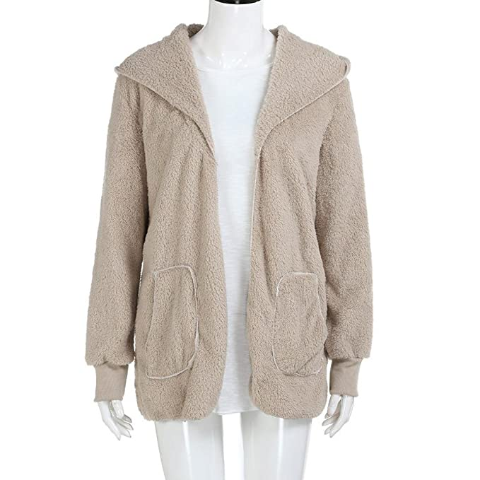 Rosennie Women Leisure Hooded Jacket Long Hoodies Parka Coat Faux Fur  Outwear Warm Cardigan: Amazon.co.uk: Clothing