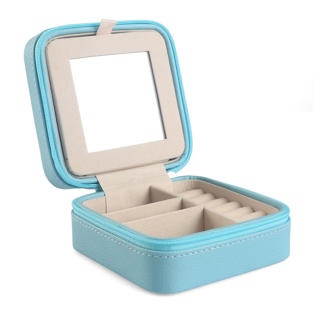 Gift for weding /& Party Participants Grey Vlando Small Portable Travel Jewelry Box