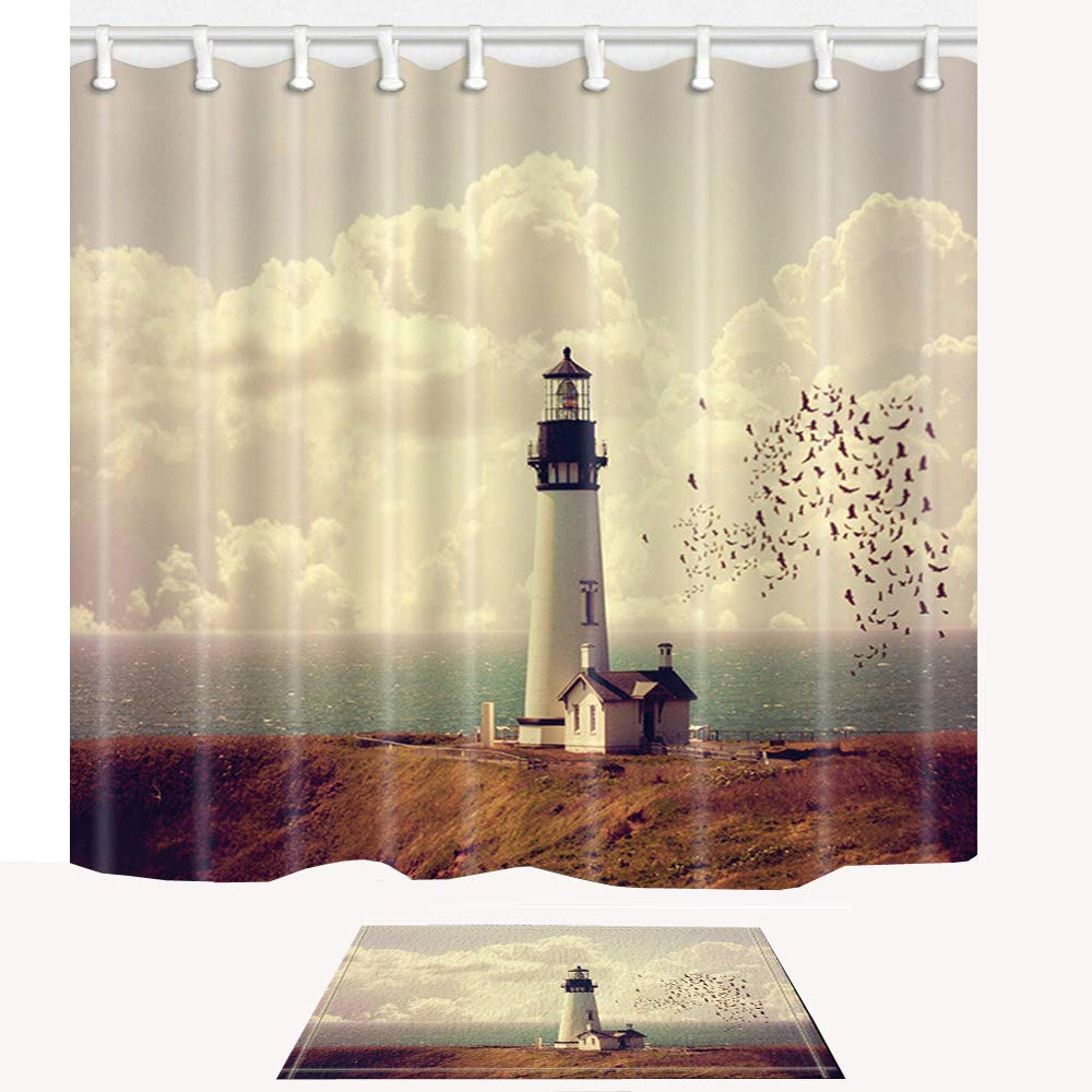 Image result for lighthouse shower curtains
