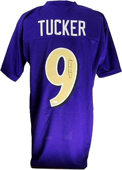 Justin Tucker Baltimore Signed Color Rush Purple Custom Jersey JSA ...