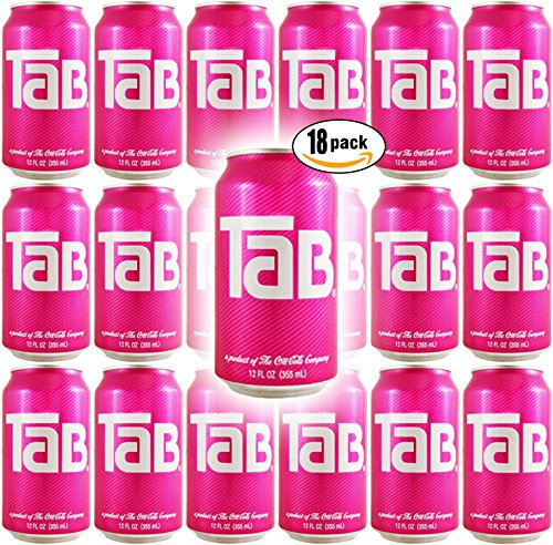 TaB Diet Cola Soda, 12oz Can (Pack of 18, Total of 216 Oz) ()
