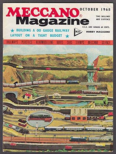 - MECCANO MAGAZINE Pontoon Crane Crawler Tractor 00-gauge 10 1968 Dinky ad