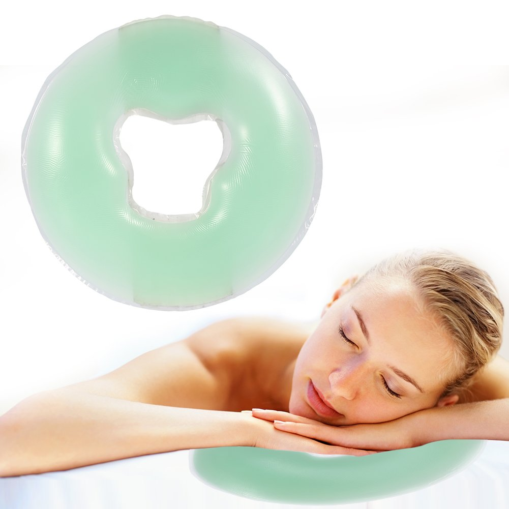 Yosoo Soft Silicone Pillow Massager Face Pillow Pad SPA Massage Cushion For Salon Skin Care Relax, Green
