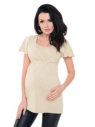 854d983dea6ca Purpless Maternity Comfortable Pregnancy Nursing Top Tunic Shirt Blouse  Pregnancy Breastfeeding Women 7742: Amazon.co.uk: Clothing
