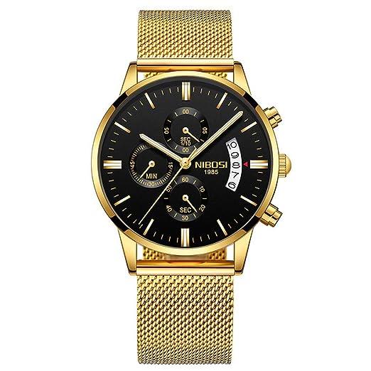 Los Relojes de los Hombres de Lujo de la Marca de Cuarzo Reloj cronógrafo Reloj Hombre de Negocios Dropshipping al por Mayor: Amazon.es: Relojes