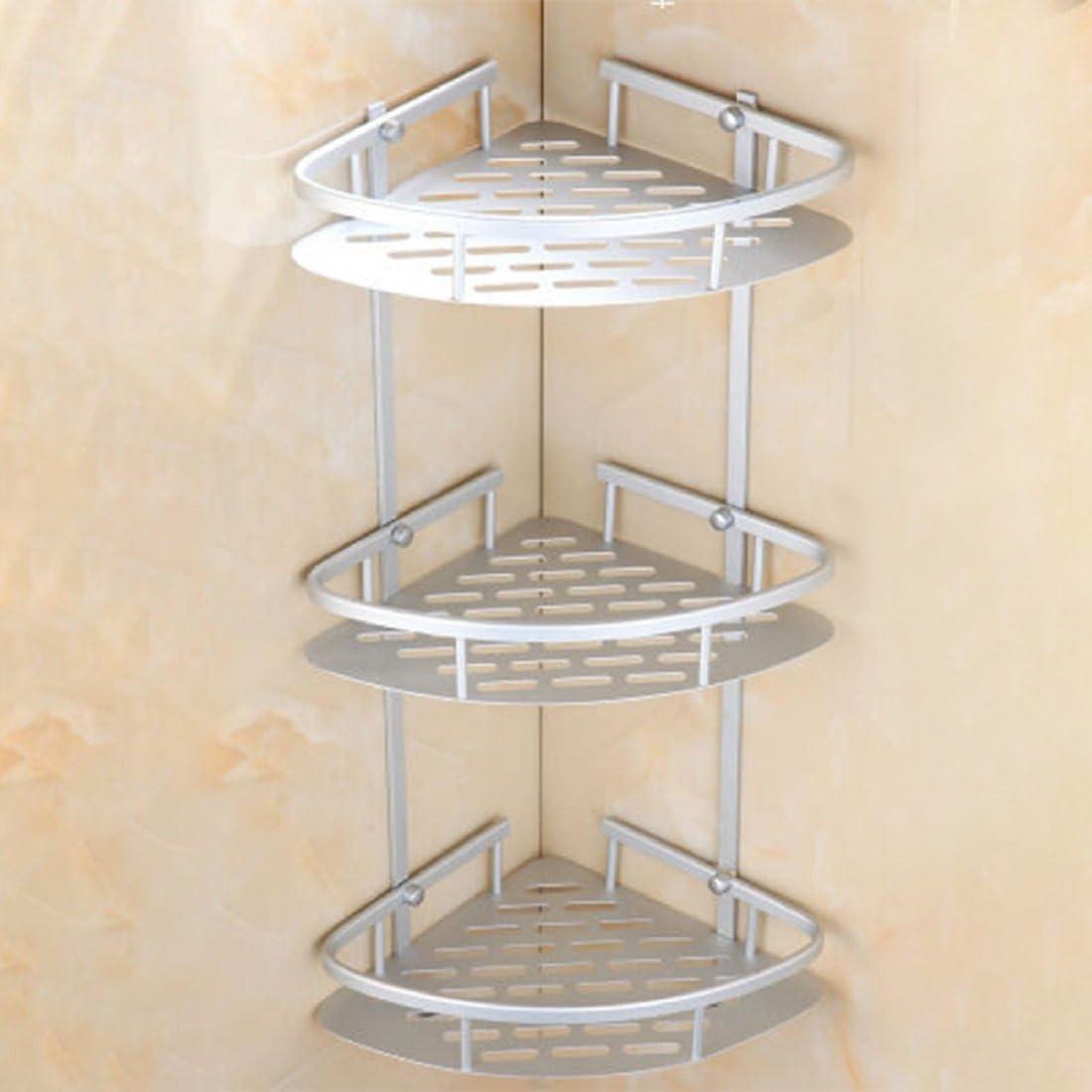 ZhanMaZW Handtuchhalter Dusche Corner Caddies Drilling-Speicher-Halter Glas Regale Badezimmer Dreieck Fach Regal mit Stellfu/ß 15~30cm Size : 15cm