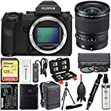 Fujifilm GFX 50S Medium Format Digital Camera Body with 23mm f/4.0 Lens + 128GB Card + Backpack + Battery & Charger + Tripod + Filters + Kit