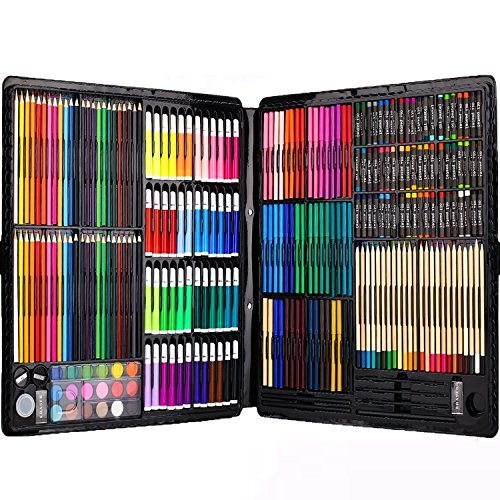 258-piecs-inspiration-art-set-for-drawing-and-sketching-colored-pencils-crayons-case-painting-set-2