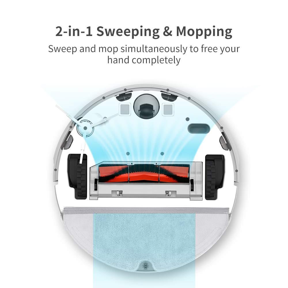 roborock Xiaowa E20 Robot Aspirador, Barrido y fregado, Aspirador robótico con Control por aplicación, Potente aspiración de 1800 Pa para alfombras Finas, ...