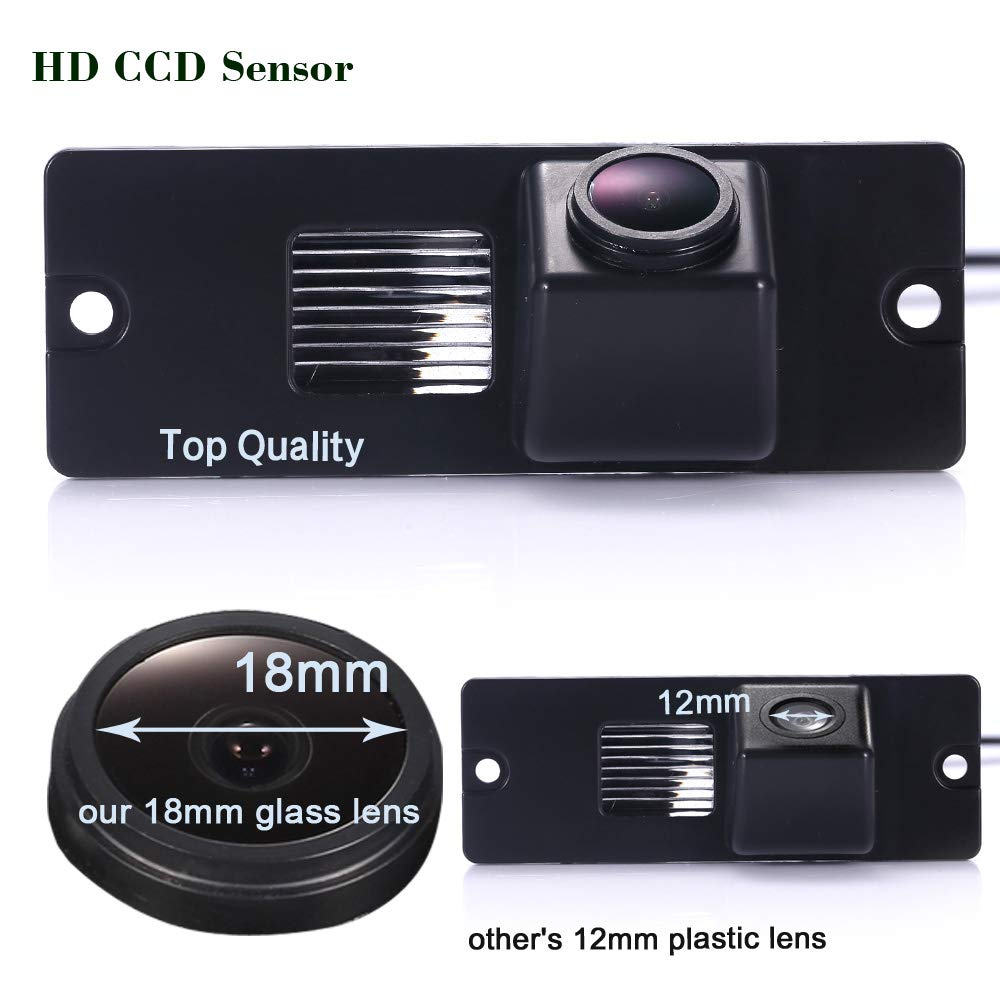 HD CCD Marcha Atr/ás Color Aparcamiento C/ámara Visi/ón Nocturna Sistema de Ayuda aparcar de Resistente al Agua /& antigolpes IP68 para Mitsubishi Pajero V3//V6//V8//V93//V97//V5//L200 /& Zinger 2011-2014