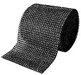 Black Diamond Sparkling Rhinestone Bling Wrap Ribbon Bulk DIY Roll for Event Decorations, Wedding Cake, Bridal/Baby Shower, Birthdays, Arts & Crafts Vase & Party Decorations - 30 Ft - 1 Roll